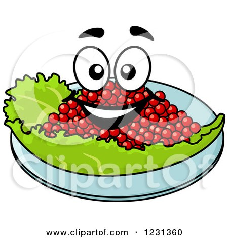 Clipart of a Happy Caviar Character - Royalty Free Vector Illustration by Vector Tradition SM