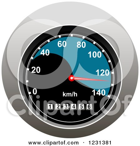 Clipart of a Speedometer - Royalty Free Vector Illustration by Vector Tradition SM