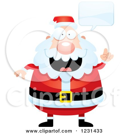 Clipart of a Talking Smart Santa Claus - Royalty Free Vector Illustration by Cory Thoman