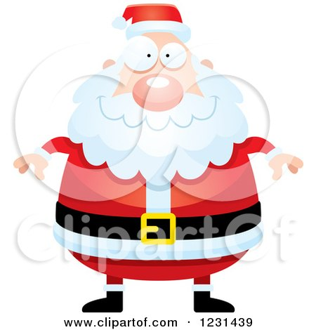 Clipart of a Happy Santa Claus - Royalty Free Vector Illustration by Cory Thoman