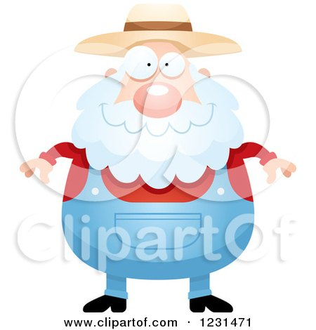 Clipart of a Happy Senior Male Farmer - Royalty Free Vector Illustration by Cory Thoman