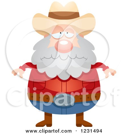 Clipart of a Depressed Mining Prospector Man - Royalty Free Vector Illustration by Cory Thoman