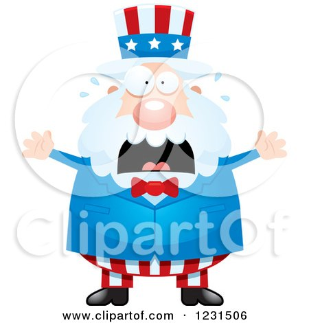 Clipart of a Screaming Uncle Sam - Royalty Free Vector Illustration by Cory Thoman