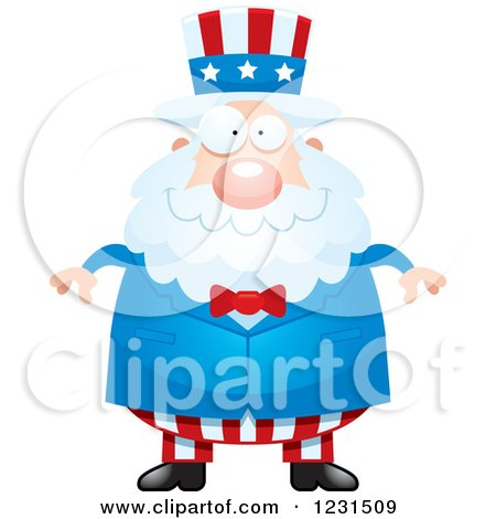 Clipart of a Happy Uncle Sam - Royalty Free Vector Illustration by Cory Thoman