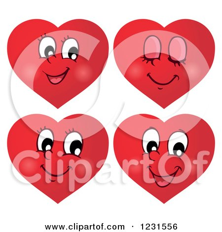 Royalty-Free (RF) Clipart of Heart Emoticons ...