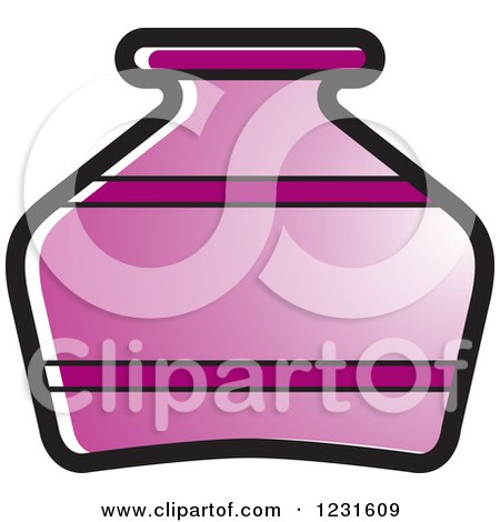 Clipart of a Purple Pottery Jug Icon - Royalty Free Vector Illustration by Lal Perera