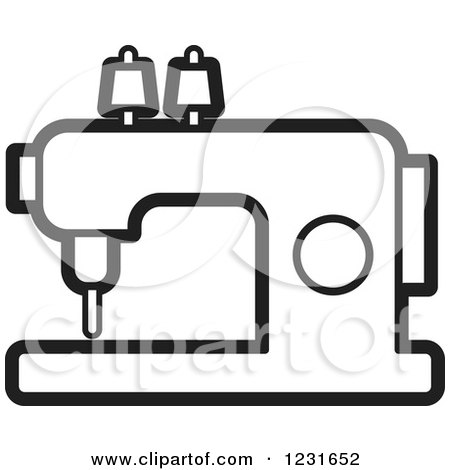 clipart of a black and white sewing machine icon royalty free rh clipartof com sewing machine clipart image sewing machine clip art free