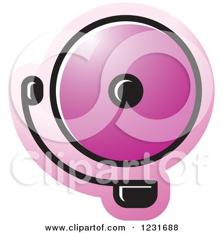 Clipart of a Purple Electric Bell Icon - Royalty Free Vector Illustration by Lal Perera