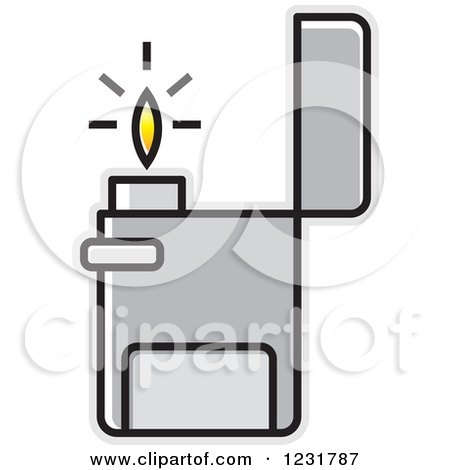 clipart of a silver lighter icon royalty free vector illustration rh clipartof com