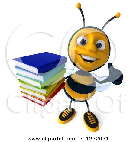 royalty free rf bee reading clipart illustrations vector graphics 1 rh clipartof com Reading Clip Art Reading Group Clip Art