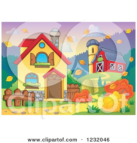 Royalty Free RF Clipart Of Farm Houses Illustrations Vector