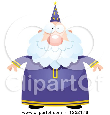 Clipart of a Happy Male Wizard - Royalty Free Vector Illustration by Cory Thoman