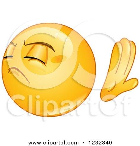 Clipart of a Yellow Emoticon Refusing - Royalty Free Vector Illustration by yayayoyo