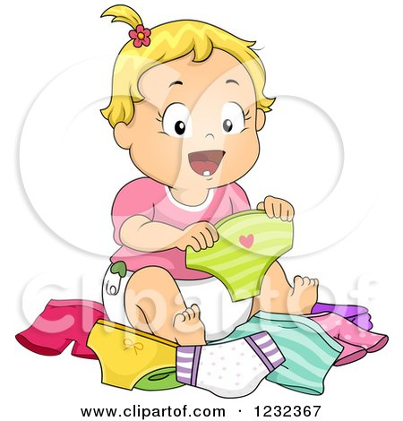 Clipart Of A Cartoon Diaper Character Plugging His Nose