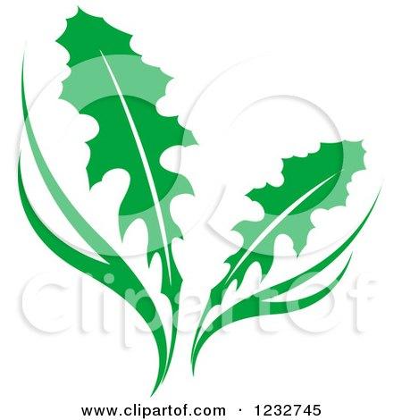 Green Dandelion Plant Logo Posters, Art Prints