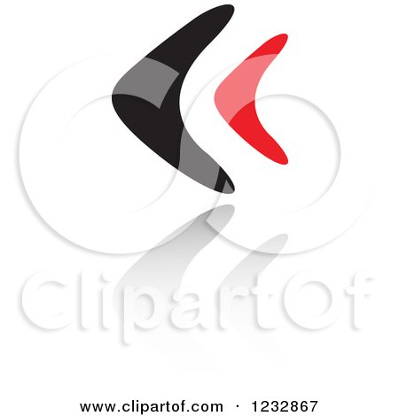 Clipart of a Flat Design Boomerang over Australia Text on Blue ...