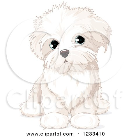 Cartoon Of A Cute Birthday Beagle Puppy Dog With Party