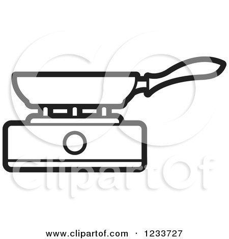 gas stove clipart black and white. black and white pan on a burner gas stove clipart s