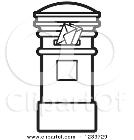 Free Black And White Mailbox, Download Free Clip Art, Free Clip ... | 470x450
