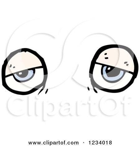 Sick Cartoon Eyes Illustration Isolated On White Royalty Free Cliparts,  Vectors, And Stock Illustration. Image 26112798.