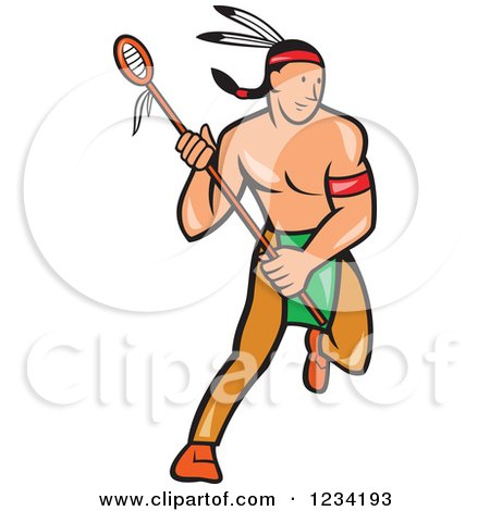 Native American Lacrosse Player with a Stick Posters, Art Prints