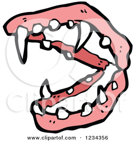 Clipart of Vampire Teeth - Royalty Free Vector Illustration by lineartestpilot