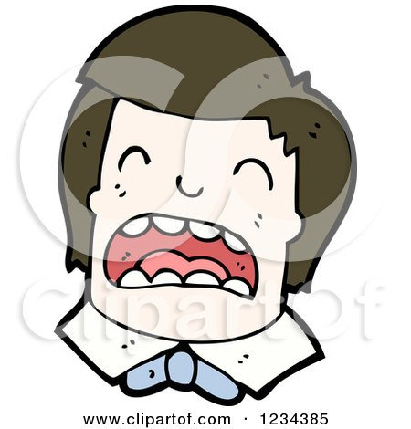 Clipart of a Man Crying - Royalty Free Vector Illustration by lineartestpilot