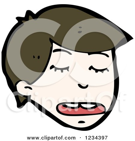 Clipart of a Man Talking - Royalty Free Vector Illustration by lineartestpilot