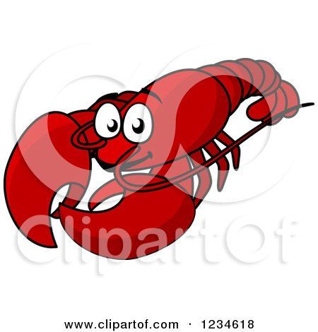 Clipart of a Red Lobster - Royalty Free Vector Illustration by Vector Tradition SM
