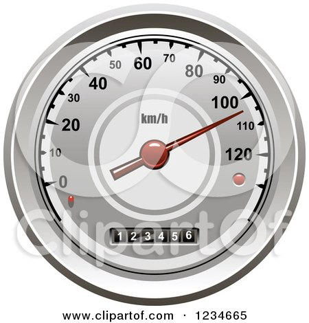 Clipart of a Car Speedometer - Royalty Free Vector Illustration by Vector Tradition SM