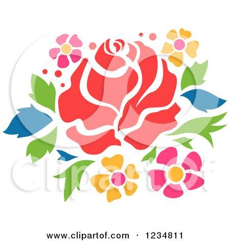 Clipart Rose Stencil