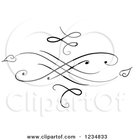 Clipart of a Black Swirl Design Element 2 - Royalty Free Vector Illustration by BNP Design Studio