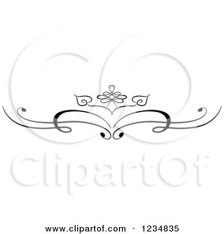 Clipart of a Black Swirl Design Element 4 - Royalty Free Vector Illustration by BNP Design Studio