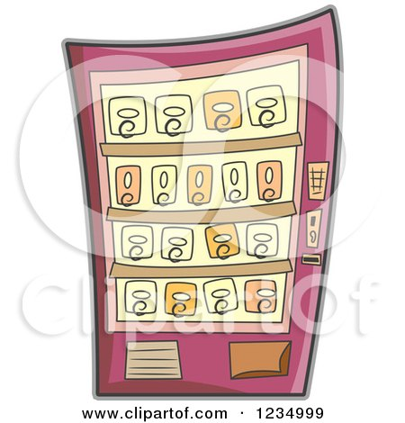 Royalty Free Rf Clipart Of Vending Machines