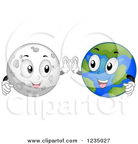 Clip Art Earth and Moon From Space – Cliparts