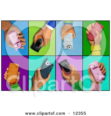 3d Clay Sculpture Hands With Cell Phones Posters, Art ...