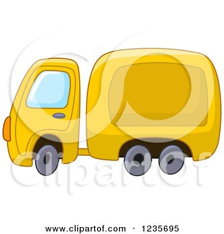 Clipart of a Cute Yellow Big Rig Truck - Royalty Free Vector Illustration by yayayoyo