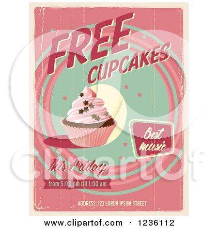 Cupcake retro poster - Download Free Vectors, Clipart Graphics & Vector Art