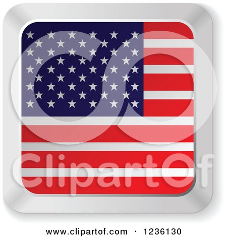 Clipart of an American Flag Computer Keyboard Button - Royalty Free Vector Illustration by Andrei Marincas