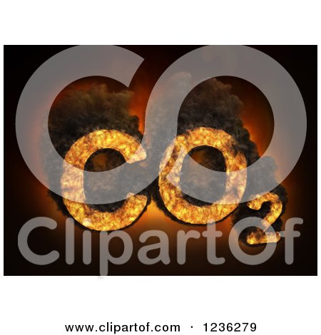 Clipart of 3d CO2 Carbon Dioxide Emissions - Royalty Free CGI Illustration by Mopic