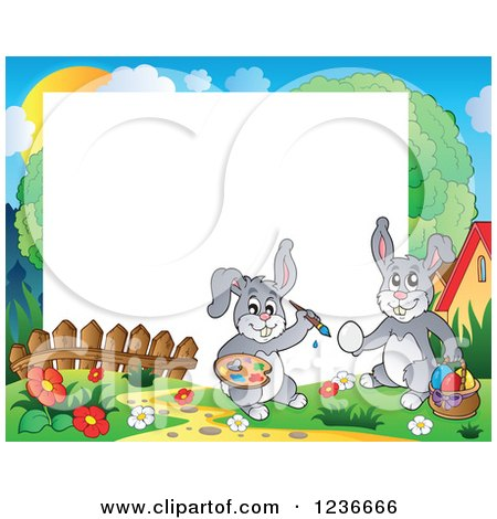 Royalty-Free (RF) Clipart of Easter Bunnies, Illustrations, Vector ...