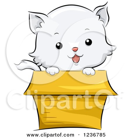 Royalty Free Rf Cat In Box Clipart Illustrations