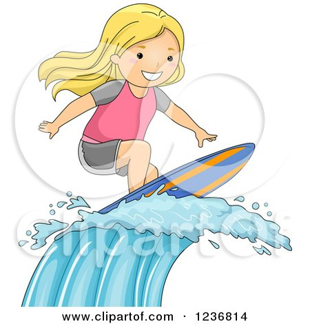 royalty free  rf  clipart illustration of a border of surfing clip art free surfer clip art free