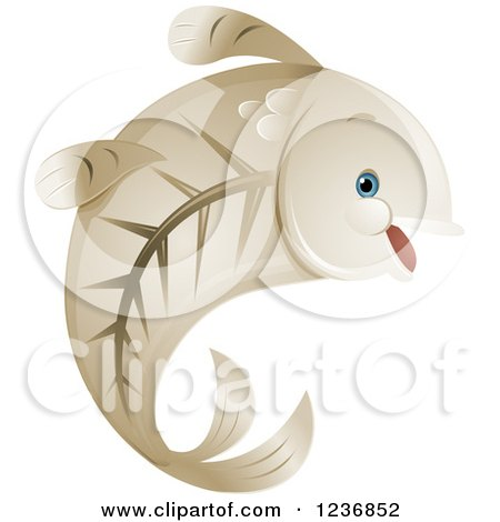 Clipart of a Cute Happy X Ray Fish - Royalty Free Vector Illustration by BNP Design Studio