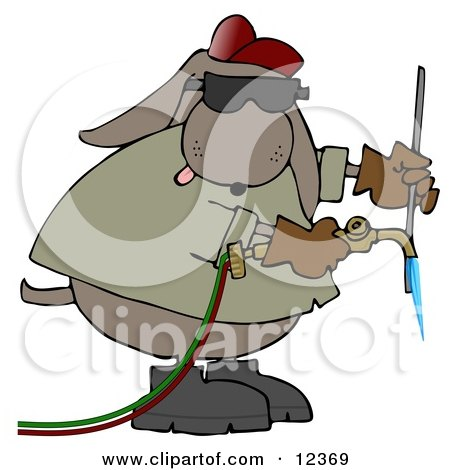Welding Clip Art http://www.clipartof.com/portfolio/djart/illustration/industrial-dog-welding-12369.html