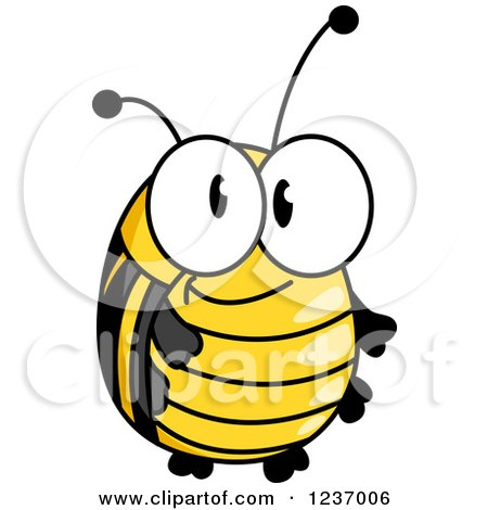 Clipart of a Cute Bee or Beetle - Royalty Free Vector Illustration by Vector Tradition SM