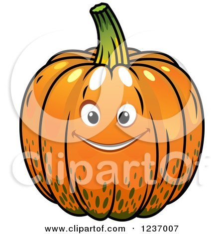 Clipart of a Happy Pumpkin - Royalty Free Vector Illustration by Vector Tradition SM
