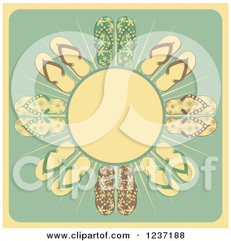 510e83f9d3974d Royalty-Free (RF) Flip Flop Clipart