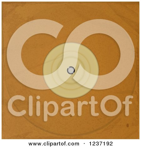 Clipart of a Brown Paper Vinyl Record Album Sleeve - Royalty Free Vector Illustration by elaineitalia