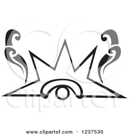 Clipart of a Black and White Mayan Venus Eye Glyph - Royalty Free Vector Illustration by xunantunich